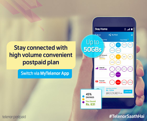 Make your own high volume postpaid plan with MyTelenor App