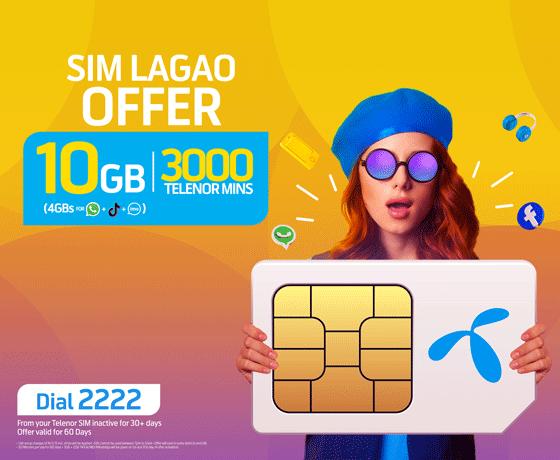 Sim Lagao Offer Data for WhatsApp TikTok IMO