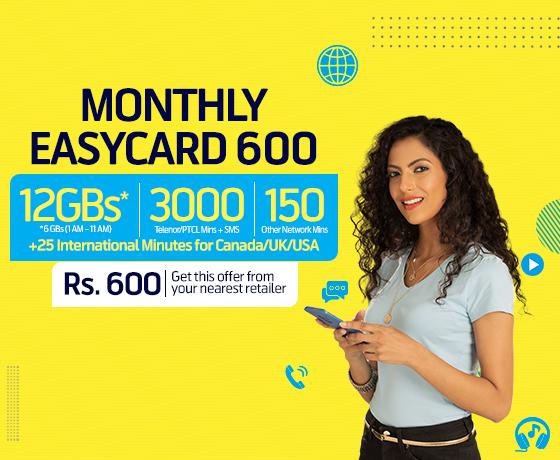 Telenor Mobile Monthly Easy Card 600 Banner